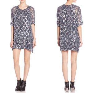 IRO Aliza Metallic Silk Tunic Dress